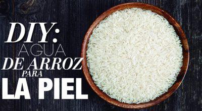 DIY agua de arroz para la piel