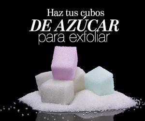 Cubos de azúcar para exfoliar