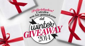 Ganadoras Winter Giveaway