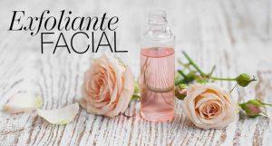 Exfoliante facial con rosas