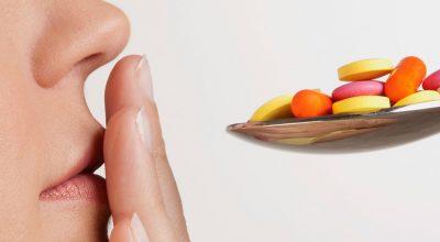 cuchara con pastillas