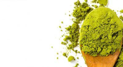 polvo de matcha verde
