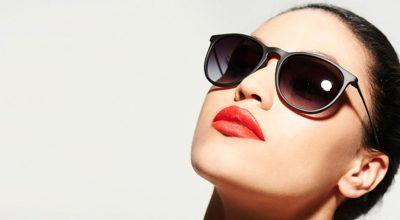 mujer lentes