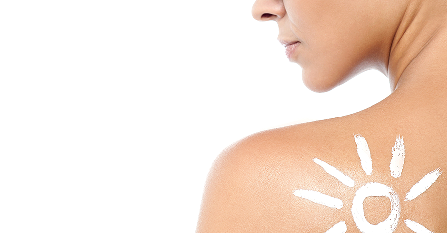 mujer sunscreen