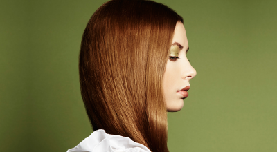 Mujer pelo sano
