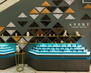 Interior de la tienda Avery Perfume Gallery