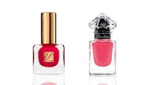 esmaltes de uñas color rosa