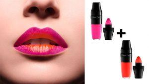 labios pintados estilo ombre