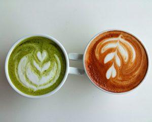 cafe y matcha