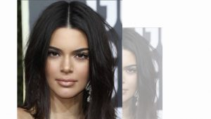 Maquillaje y peinado kendall jenner golden globes
