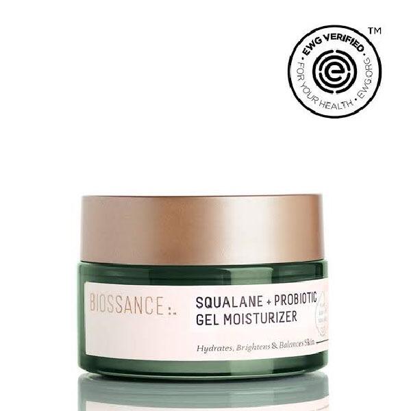 Squalane + probiotic gel moisturizer, Biossance
