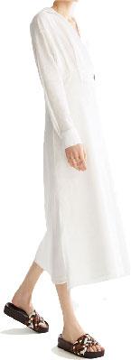Vestido midi blanco manga larga