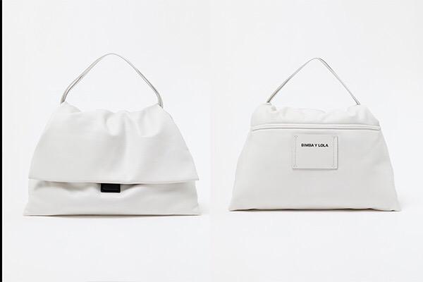 Bolsa blanca solapa