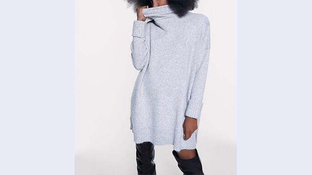 Vestido gris oversize